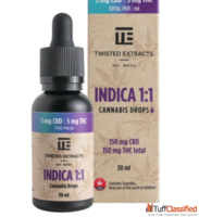 Twisted Extracts Indica 1:1 Cannabis Oil Drops