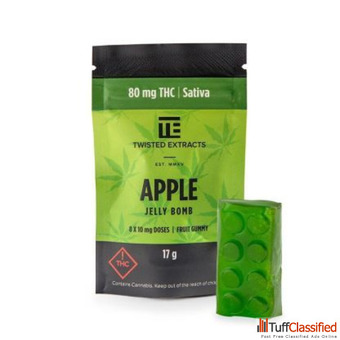 Twisted Extracts Apple Jelly Bomb THC