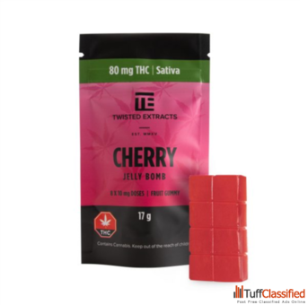 Twisted Extracts THC Cherry Jelly Bombs 80mg