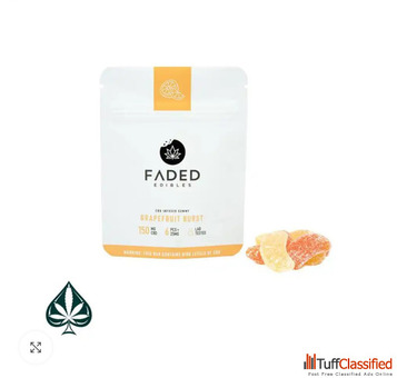 CBD GRAPEFRUIT BURSTS 150MG CBD BY FADED EDIBLES
