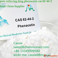 factory export painkiller cas 62-44-2 phenacetin powder with...