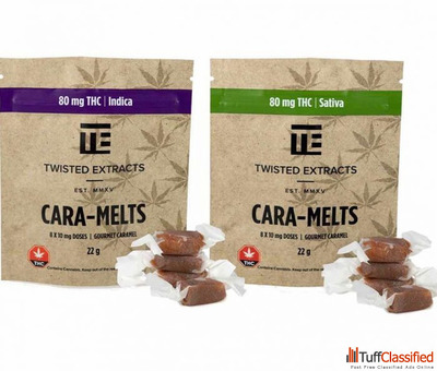 TWISTED EXTRACTS CARA-MELTS (SATIVA OR INDICA)