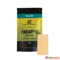 Twisted Extracts – Pineapple Jelly Bombs : 80mg CBD
