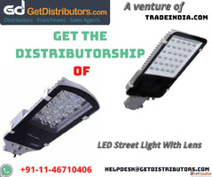 Get the Distributorship of LED Street Light With Lens