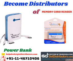 Become Distributors of Memory Card Reader & Power Bank