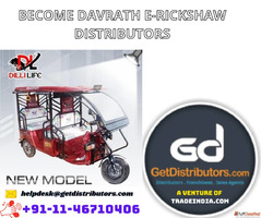 Become DAVRATH E-RICKSHAW Distributors
