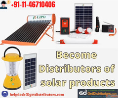 Become Distributors of solar products