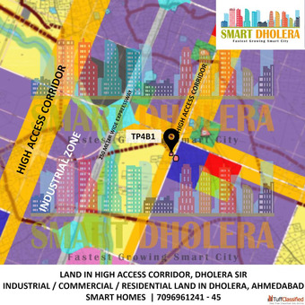 NA Land For Mixed Use Development Commercial and Residential TP4B1, Dholera Smart City