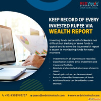 Why Mutual Fund Software in India generates report of broker...