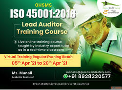 Register ISO 45001:2018 Lead Auditor Training Course in Mumb...