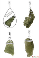 Sterling Silver Green Moldavite Jewelry Collection.