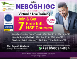 Register NEBOSH Training Course in Pondicherry