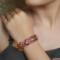 Traditional Gold Plated Silver Bangles at Best Price