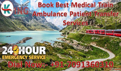 Get Book Medical Support Train Ambulance from Patna to Delhi...