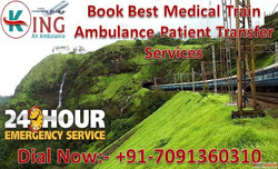Get King Train Ambulance from Patna to Delhi for World-Class...