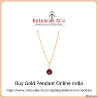 Buy Gold Pendant Online India | Ratnavaliarts