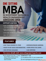 One Sitting-Online-Distance MBA in Investment Banking and we...