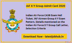 Indian Air Force Group X Y Admit Card 2021