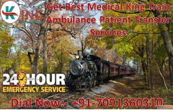 Get Emergency King Train Ambulance from Patna to Mumbai with...
