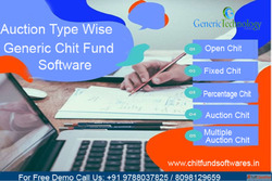 Auction Type Wise Generic Chit Fund Software