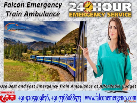 Get Falcon Emergency Train Ambulance Service in Delhi at Low and Best Budget