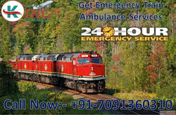 Get Best Emergency Train Ambulance from Patna to Delhi – Kin...