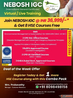 GWG new exiting deals on NEBOSH IGC Course in Bangalore