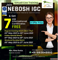 One day Offer on NEBOSH IGC Course in Kolkata