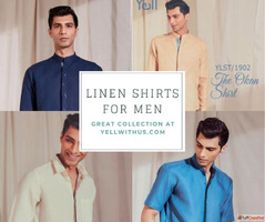 Buy Summer Wear: Linen shirts for men | Yellwithus