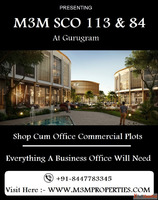 M3M SCO Commercial Plots - Where Space is Premium - At Secto...