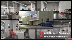 3D Walkthrough Animation Of Industrial Warehouse Office 3D I...