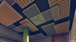 Unique False Ceiling Design with Metal